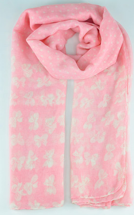 butterfly print scarf in pink by GOLDKID LONDON