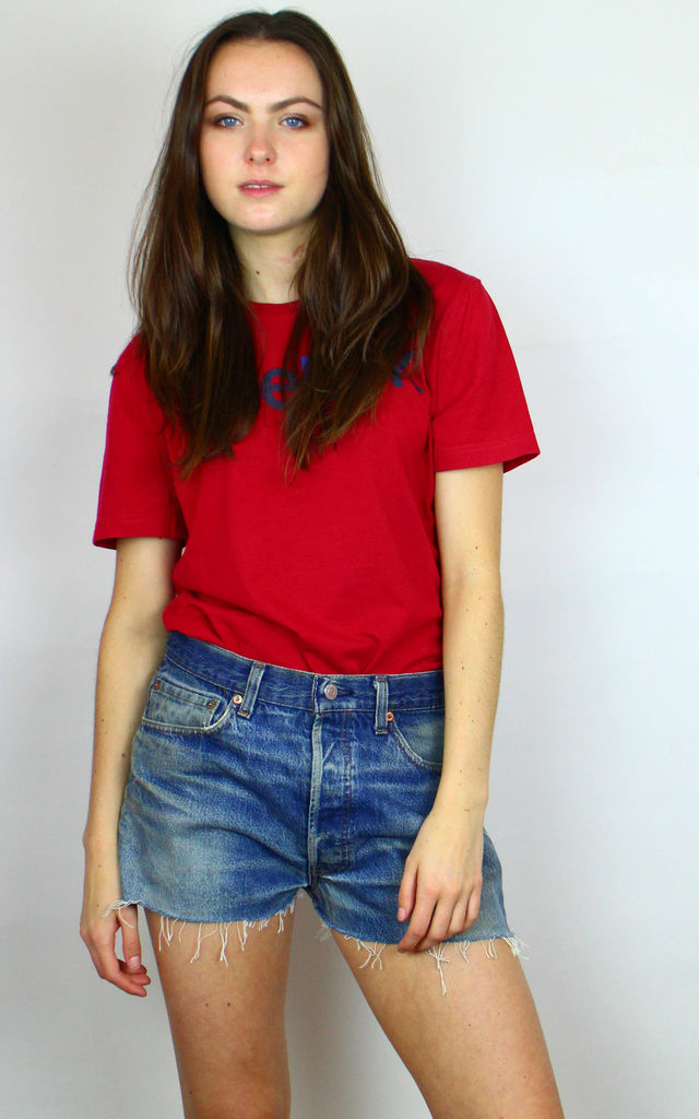Vintage Levi's 501-Red Tab- Raw Hem Denim Shorts by Re:dream Vintage