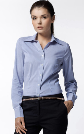 Blue Striped Classic Longsleeve Shirt by AWAMA