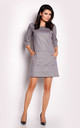 Grey Suede Leather Dress With Boat-Neck by AWAMA