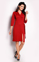 Red Tie collared dress by AWAMA