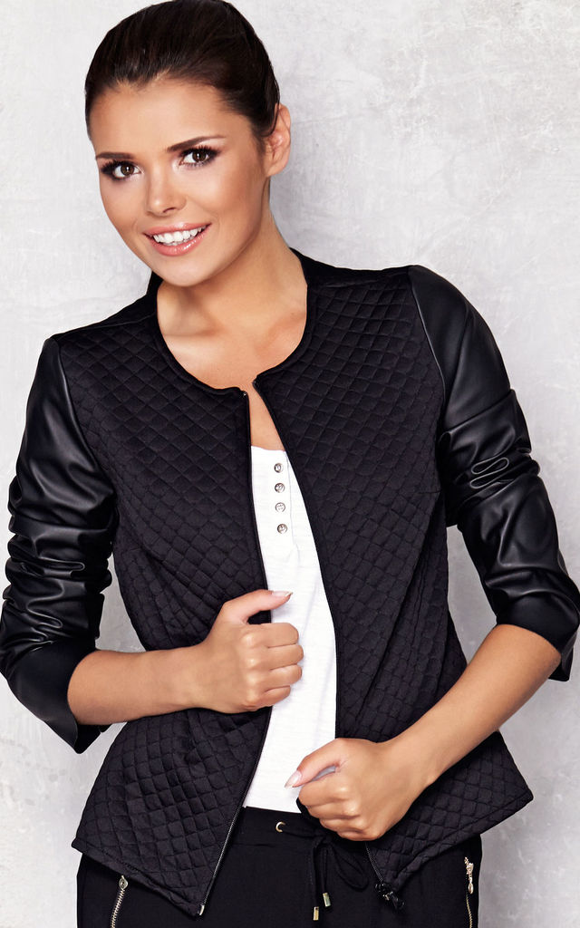 Black Quilted Jacket by AWAMA