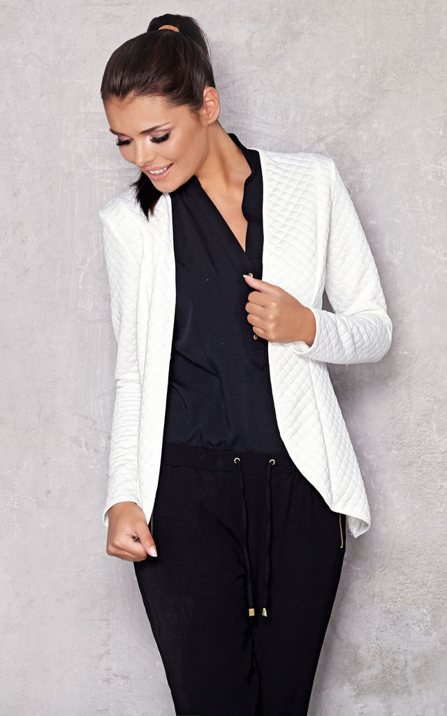 Fitted Quilted Jacket in white by AWAMA