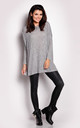 Grey Melange Loose Blouse by AWAMA