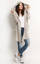 Beige Long Jacket With Hoodie by AWAMA
