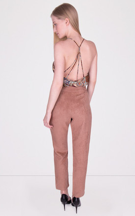 Cigarette Suede Trousers Tan by MISSTRUTH