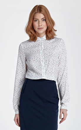 Blouse with a circular collar - meadow by Nife