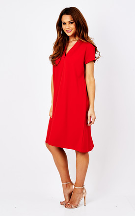 Red Nancy Tunic Dress by Havren