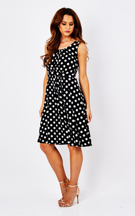 Black Orla Spot Dress by Havren
