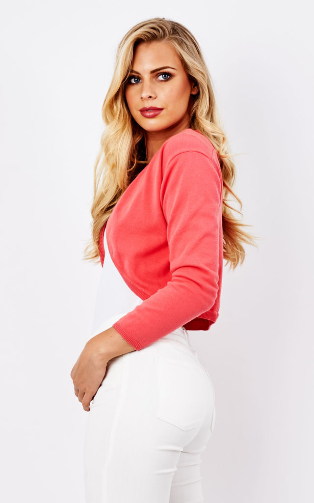 Coral Bella Shrug by Havren