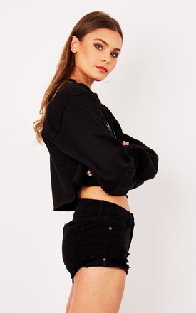 BABY GIRL CROPPED SWEATER- BLACK by Cats got the Cream
