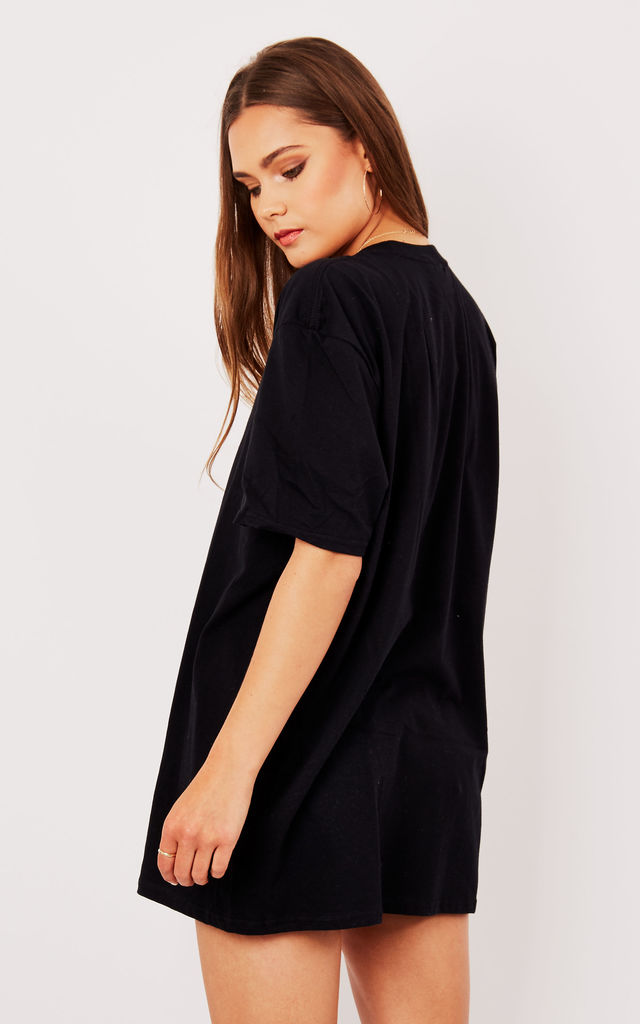 OVERSIZED BOYFRIEND TEE- BLACK by Pharaoh London