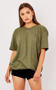 OVERSIZED BOYFRIEND TEE- KHAKI by Pharaoh London