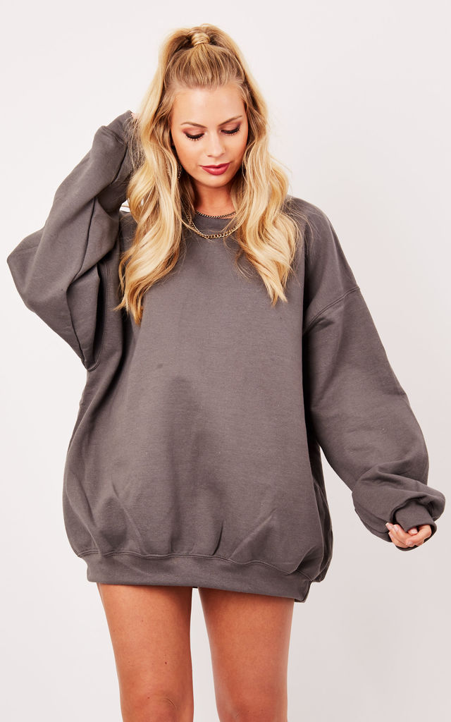 OVERSIZED BOYFRIEND SWEATER- STORM by Cats got the Cream
