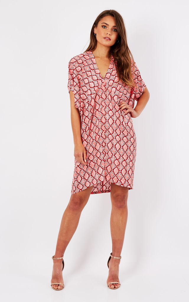 Pink Snake Print Tunic by Ruby Rocks