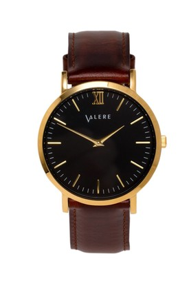 Primus Gold with Brown Leather Strap by VALERE LONDON