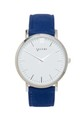 Primus Silver with Blue Suede Strap by VALERE LONDON