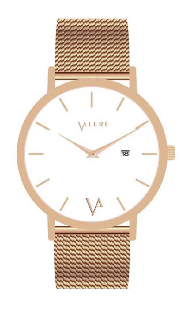 Novus Edition 40mm Rose Gold with Mesh Strap by VALERE LONDON