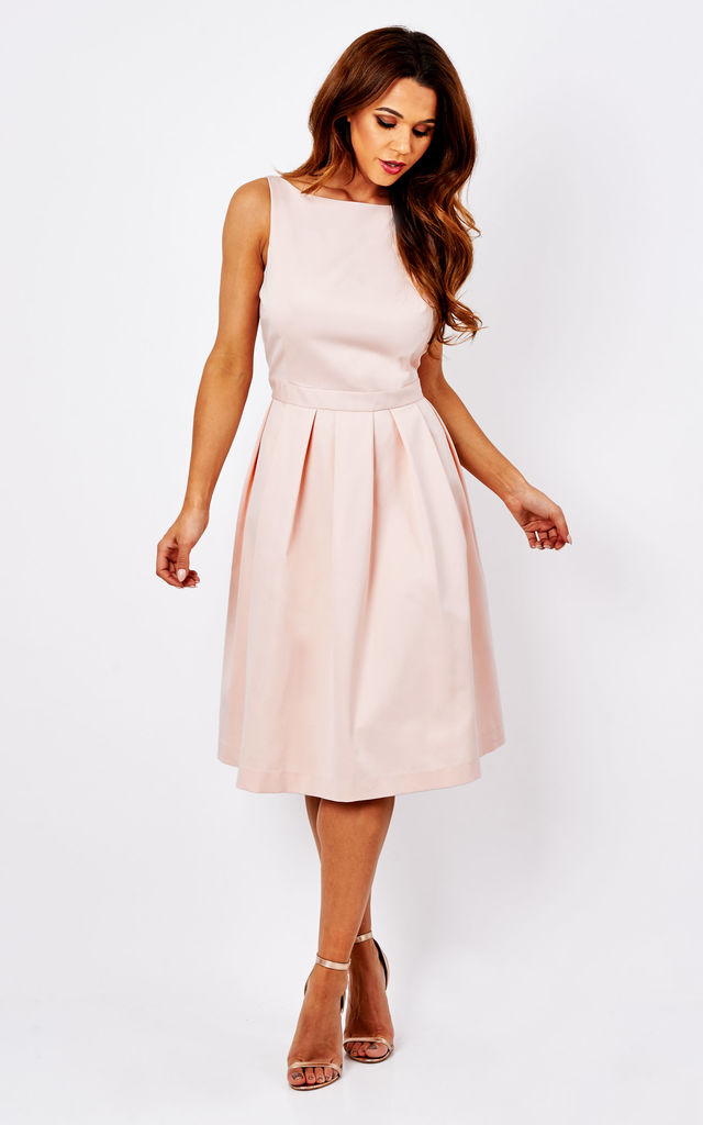 Nude Pink Ciara Bow Back Dress by Havren