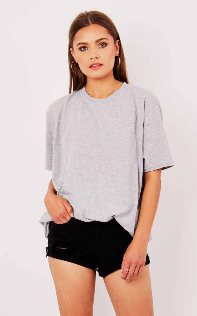 OVERSIZED BOYFRIEND TEE- GREY by Pharaoh London
