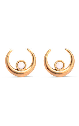 CRESCENT STUDS GOLD by FERA Jewellery