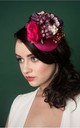 Pink Berries Floral Fascinator by GG's Pin-up Couture