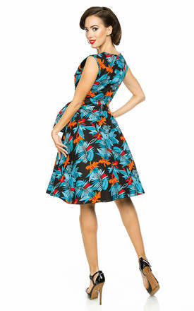 Retro Vintage Swing 1950's Swing Pin Up Dress by Looking Glam