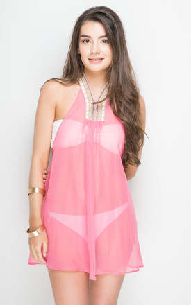 Cacia Coral Beach Cover Up by AQUALUXE Product photo