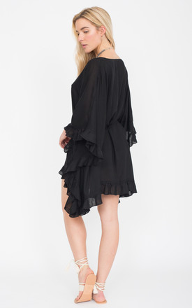 Black Ruffle Kaftan by likemary