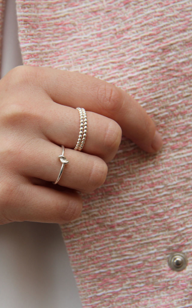 Silver Beaded Ring by XISSJEWELLERY