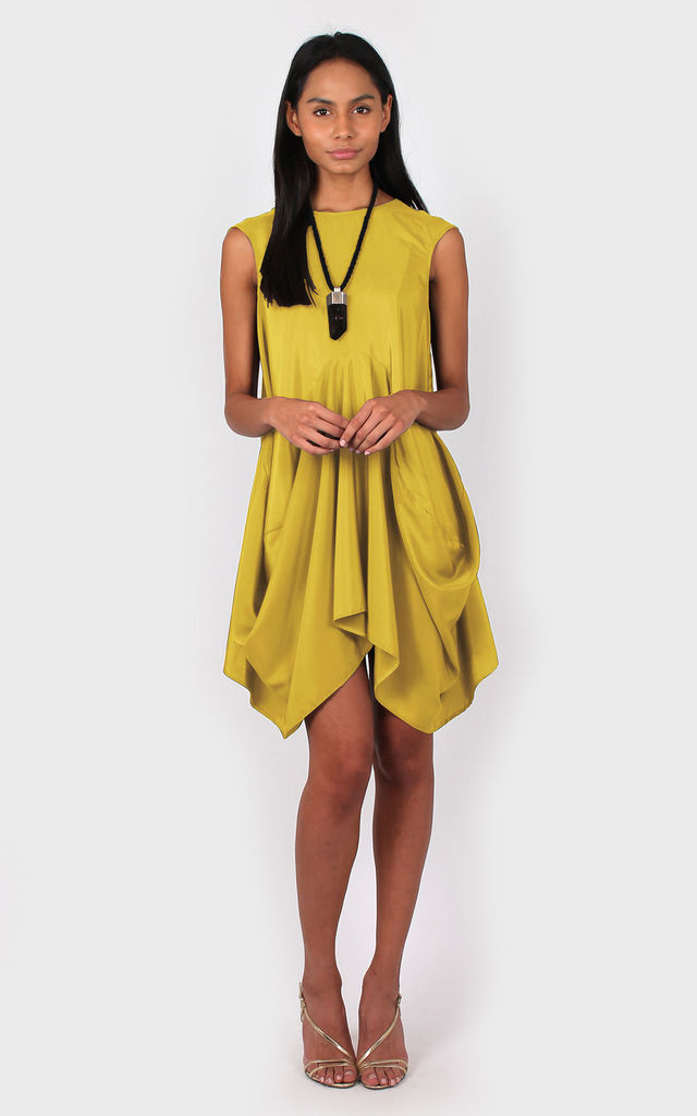 3f5ca35bd3 Dolly Swing Dress Yellow by Bullet
