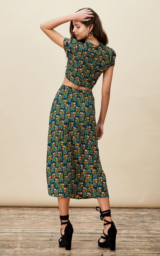 Ariel Skirt in Pineapple Print image