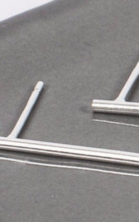 Sterling Silver Long Bar Earrings by Collections by Hayley