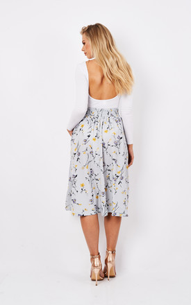 Midi floral skirt with elasticated waist by Paisie