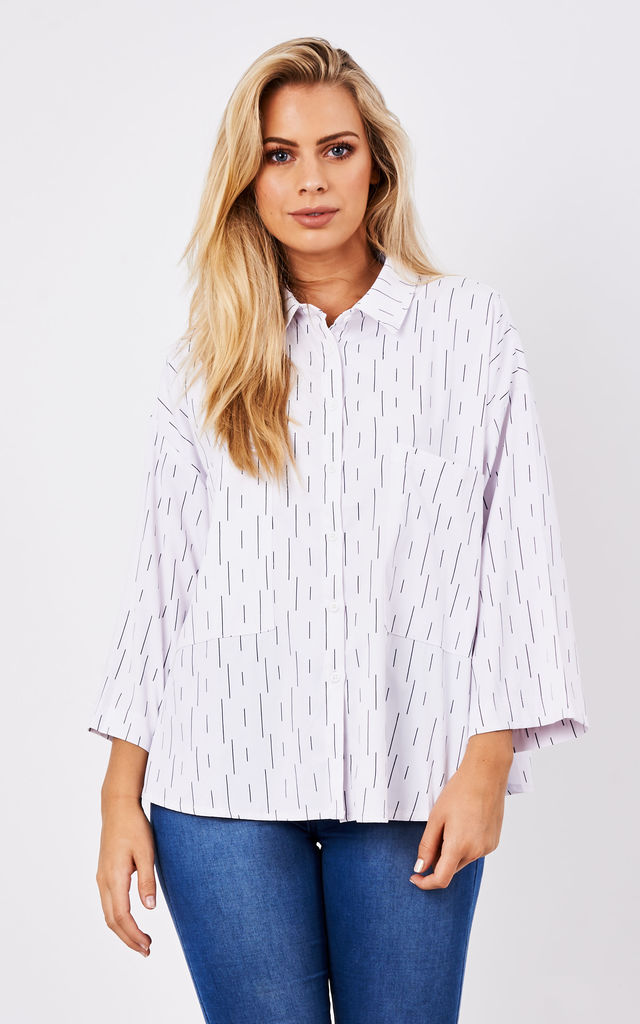 Oversized shirt in monochrome print by Paisie