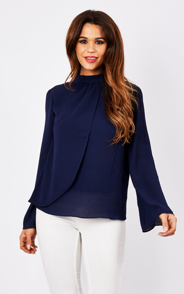 ELLA BLOUSE NAVY by CLOVES AND LACE