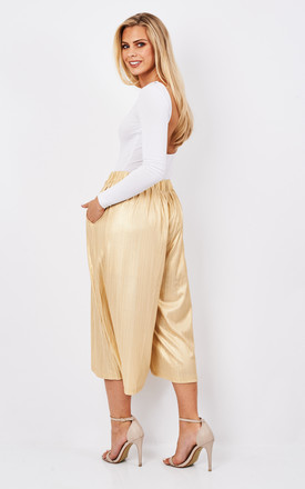Metallic culottes with elasticated waist by Paisie