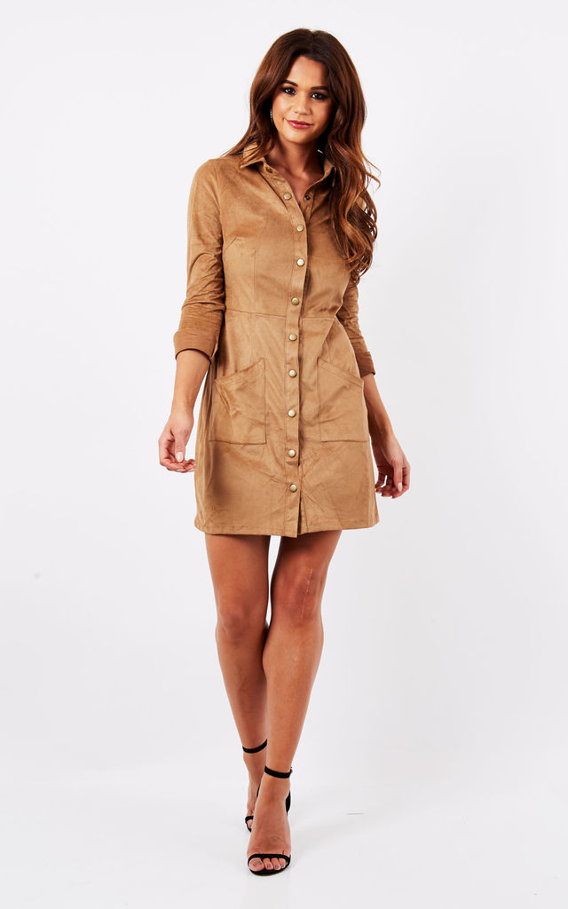 f5a55863ac69 Suede Shirt Dress. By Madam Rage