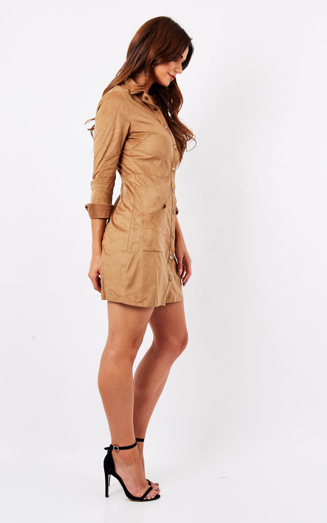 SUEDE SHIRT DRESS by Madam Rage