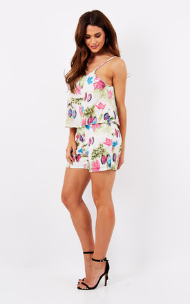 LAZER CUT FLORAL PLAYSUIT by Madam Rage