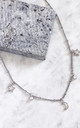 MAIA. Moon and Star Fancy Chain Necklace in Silver by Aluna Mae