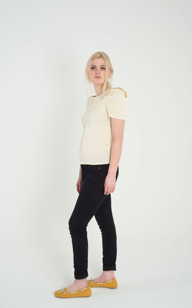Tulip - Pleated Shoulder Top by Madia & Matilda