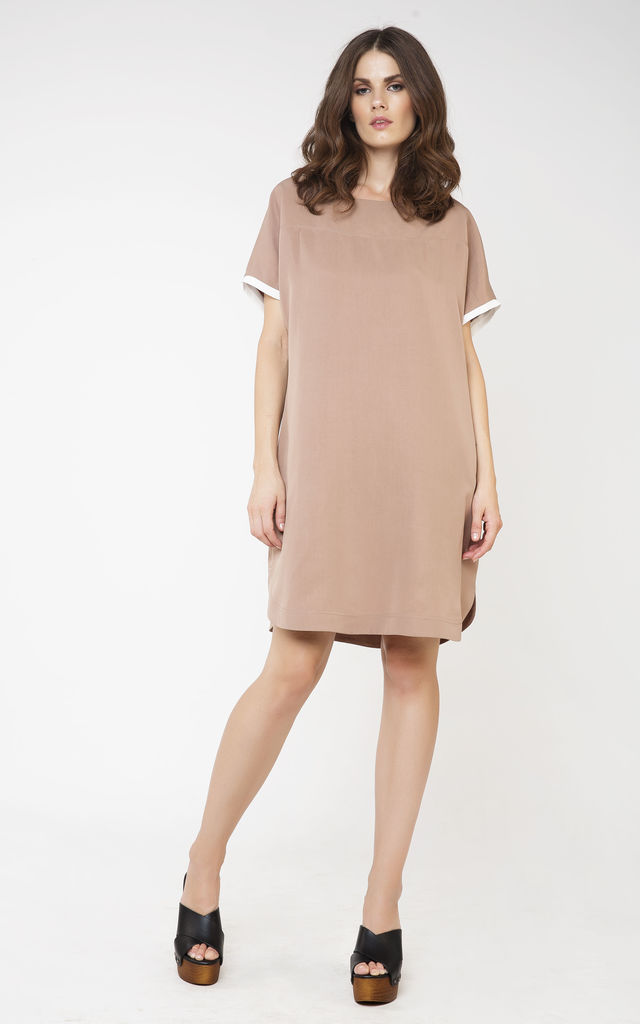 Short Sleeve Tencel Dress by Conquista Fashion