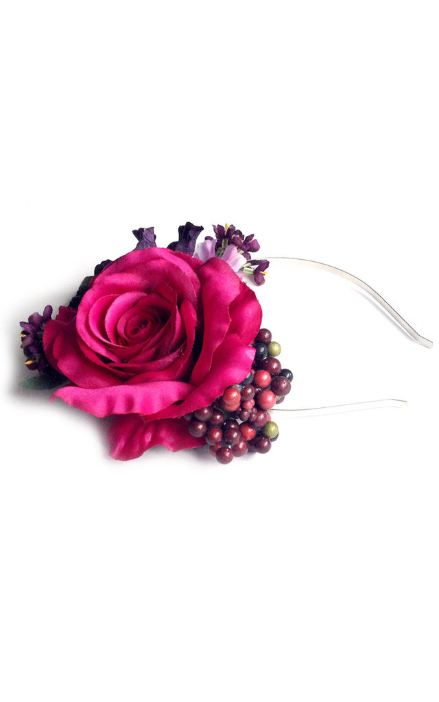 Oversized Rococo Headband in Berry by Crown and Glory