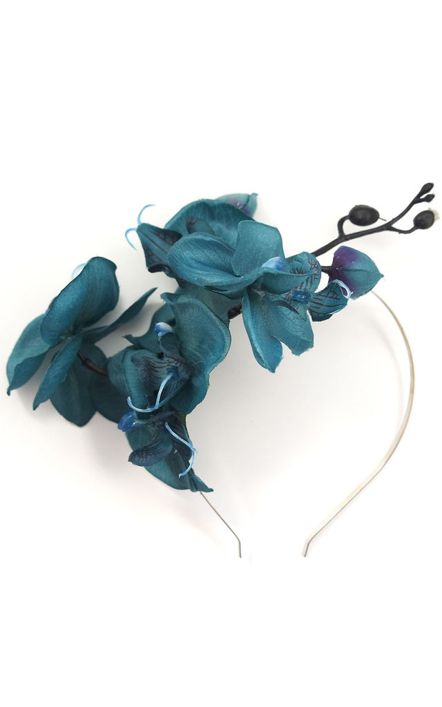 Lana Orchid Aliceband - Teal by Crown and Glory