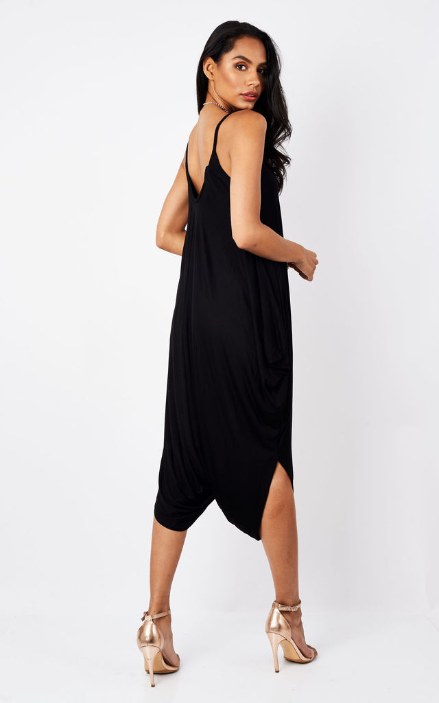 Black Strappy Jumpsuit by Bella and Blue