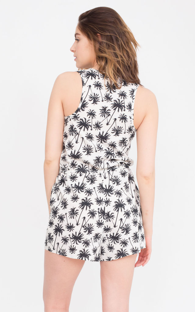 Palm Trees Print Playsuit by likemary