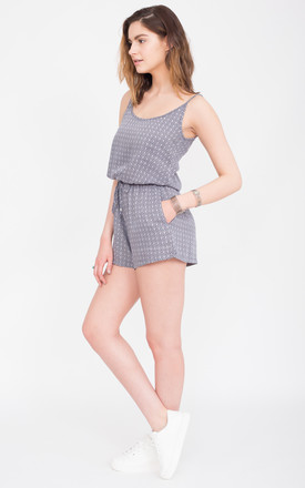 Geo Print Strappy Playsuit by likemary