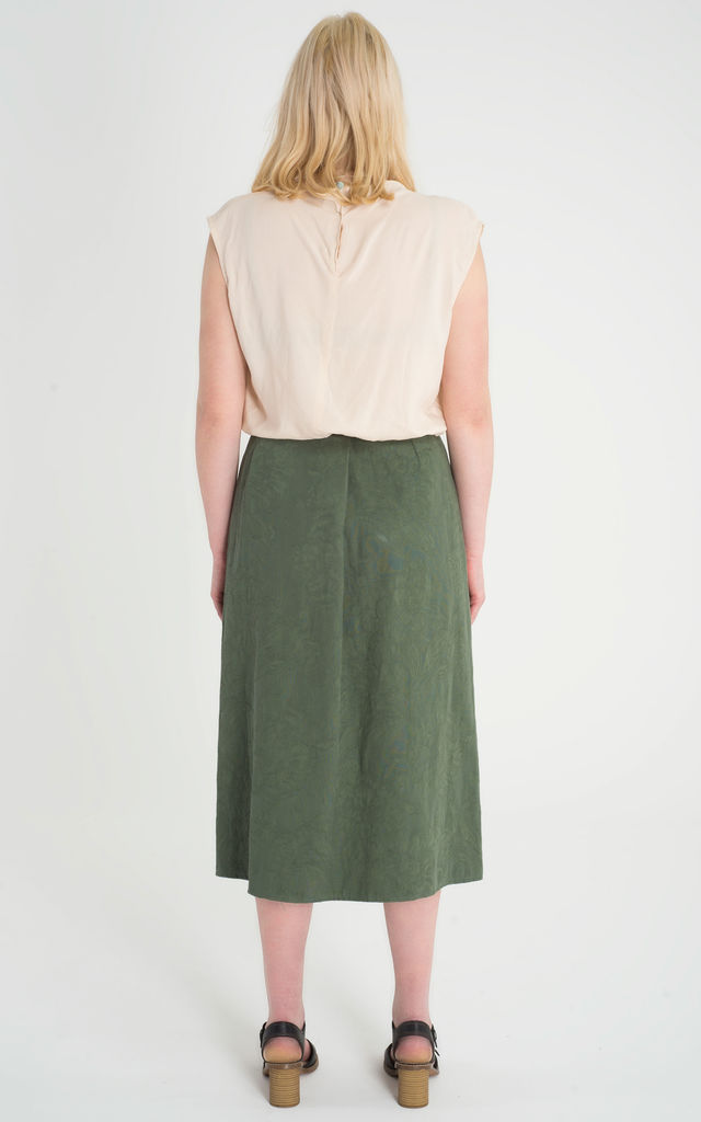 Ines - Pleated Zip Front Skirt by Madia & Matilda