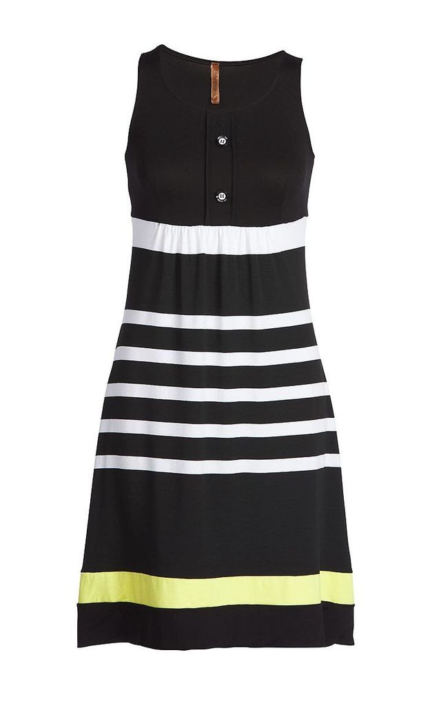 Empire Lined Striped Dress by Conquista Fashion